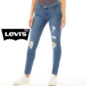 710 Super Skinny Distressed Jeans - Size 28